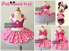 Pink Minnie Birthday Party Tutu Outfit Mouse por RockTheJourney