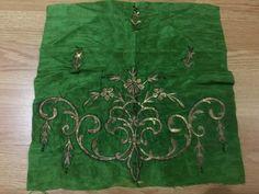 2 ottoman silk gold metallic bindallı part 9 • $249.00