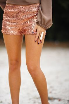 Make Me Proud Shorts: Rose Gold