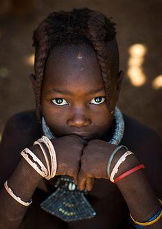 Africa | Himba girl.  Epupa, Namibia. | ©Eric Lafforgue