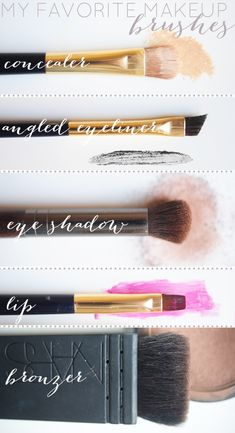 So that's how to use all those brushes correctly. My Favorite Make-up Brushes | Cupcakes & Cashmere