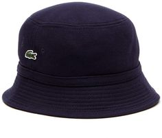 3cffdfd6 Lacoste Men's Cotton pique bucket hat Mens Bucket Hats, Men's Hats, Caps  Hats,