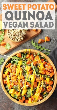 Vegan Sweet Potato Quinoa Salad recipe - filling, satisfying salad with incredible flavor and texture!