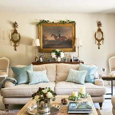 Take a look around this welcoming country home, which makes a feature of French Regency furniture and traditional English architecture