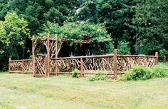 beautiful wooden fence for animal enclosure