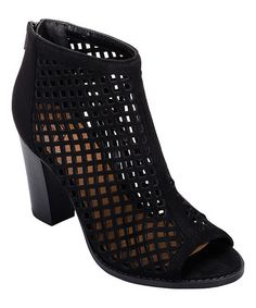 Loving this Black Bianca Mesh Ankle Boot on #zulily! #zulilyfinds