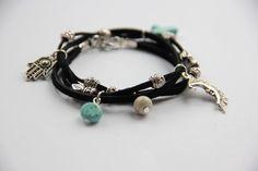 Crescent Moon Tibetan Wrap Charm Bracelet *NEW*