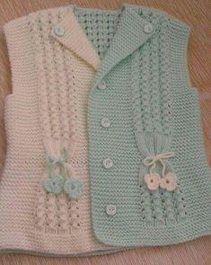 Baby braids newest knitting patterns – Part 2 - Her Crochet Girls Knitted Dress, Crochet Baby Cardigan, Baby Cardigan Knitting Pattern, Knit Baby Sweaters, Knitted Baby Clothes, Crochet Clothes, Baby Knitting Patterns, Baby Patterns, Baby Coat