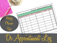 Doctor Medical Appointment Log Happy Planner Size Printable, Health, Medical, Create 365, MAMBI Insert - INSTANT DOWNLOAD
