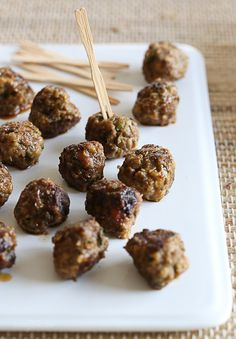 """Hi, I'm Gina from Skinnytaste and I'm so excited to be a part of the BHG Delish Dish """"Month of Healthy Snacks"""". Today I'm sharing these great mini meatballs, a perfect appetizer recipe for the weekend if your watching the game! These meatballs start on the stove, or you can even bake them in the [...]"""