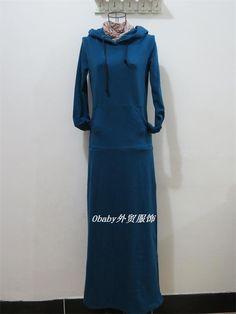 CUPAX韩国针织连帽卫衣套头连衣裙hm长袖加厚长裙打底裙超长拖地-淘宝网