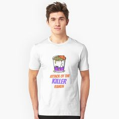"""""""Attack of the Killer Ramen"""" T-shirt by equilibrum08 