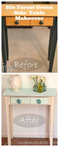 80s side table makeover by createandbabble.com