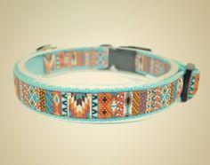 Obroża dla psa Aztec turquoise - OssoDiCane - Obroże dla psów