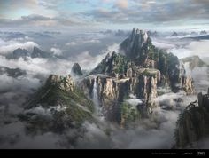 To the Sky Kingdom (2017 TV series ) by Ming-Yee Sheh | Matte Painting | 2D | CGSociety