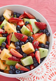 Lemonade Fruit Salad – This fruit salad tossed with lemonade drink mix will appeal to all kinds of fruit fans. (Us? We like the recipe's directions: Combine ingredients.)