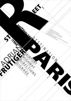 """""""When I put my pen to a blank sheet, black isn't added but rather the white sheet is deprived of light. [...] Thus I also grasped that the empty spaces are the most important aspect of a typeface."""" —Adrien Frutiger"""