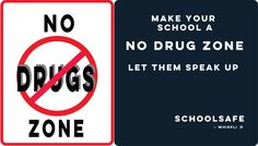 Say no to DRUGS and report wrongful activity in your School. Use SchoolSafe to report incidents anonymously - request a free demonstration today Drugs, Let It Be, Activities, Make It Yourself, Sayings, Logos, School, How To Make, Free