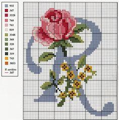 Abecedario c/rosas