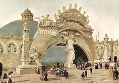 """From World's Fair - Designed by Henry Roltair, called """"Roltair's Creation"""" Boat trip around the 'big blue' dome, illustrating the works of God"""