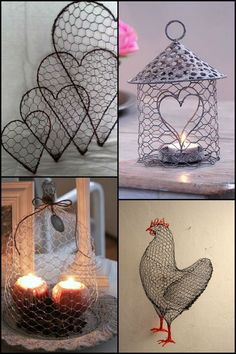 Spread the loveMake Use of Your Excess Chicken Wire with These Beautiful Craft Ideas! 28 Great Modern Decor Ideas Trending Now – Make Use of Your Excess Chicken Wire with These Beautiful Craft Ideas! Chicken Wire Art, Chicken Wire Crafts, Chicken Wire Baskets, Chicken Wire Sculpture Diy, Crafts To Make, Arts And Crafts, Barbed Wire Art, Deco Champetre, Country Crafts