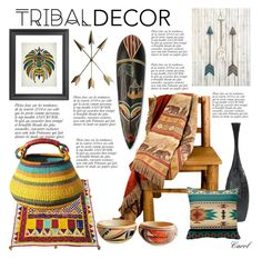 """Beautiful Tribal Decor"" by hastypudding ❤ liked on Polyvore featuring interior, interiors, interior design, home, home decor, interior decorating, HiEnd Accents, Anja, NOVICA and homedecor"