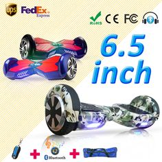 Hoverboard Two Wheels Electric Self Balancing Scooter Skateboard Drift Smart Balancing with Bluetooth and Bag Spain Germany Ware