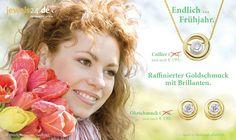 Die Startseite des Schmuck-Shops unter www.jewels24.de im Frühjahr 2015. Der Frühling zieht ins Land und die Pflanzen treiben aus. Bald ist Ostern und dann Muttertag. Schöne Geschenkideen für Ostern und Muttertag finden Sie ganz sicher im Onlineshop - Schmuck direkt vom Hersteller aus Deutschland.