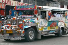 A jeepney in Angeles City Philippines Exotic Beaches, Tropical Beaches, Angeles City Philippines, Subic Bay, Uk Visa, Jeepney, Philippines Culture, Walking Street, Custom Jeep
