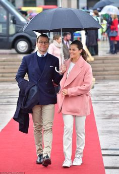The Swedish royals were among a contingent from across Europe who travelled to Norway to mark the special occasion