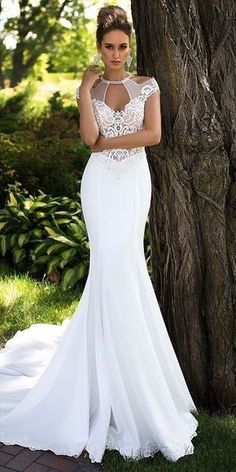 50 Adorable Sexy Wedding Dresses Ideas for Your Big Day #hot Sexy Wedding Dresses, Wedding Attire, Bridal Dresses, Wedding Gowns, 2017 Wedding, Fall Wedding, 2017 Bridal, Dresses Dresses, Wedding Hijab
