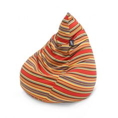 The Life! Fiesta Tear Drop Bean Bag is perfect for summer. It's vibrant yarn dyed stripe and breathable soft fabric make for the ideal indoor/outdoor piece. From lifeliveitup.com.au