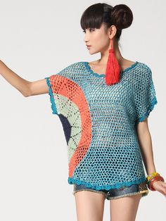 amazing crochet top. crocheted top - inspiration (dead link)