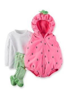 Carters 3-Piece Strawberry Halloween Costume  sc 1 st  Pinterest & Baby Carteru0027s 3-pc. Strawberry Costume Infant Girlu0027s Size: 24 ...