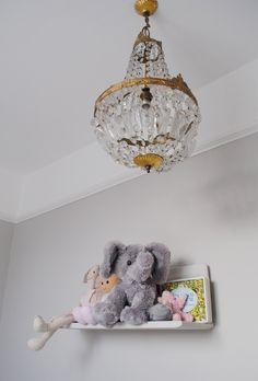 Katharine & James' Glamorous Family Home in London House Tour | Apartment Therapy (Child's room/Farrow & Ball cornforth white)