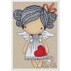 #mika__mila_katya #magic__dolls #crossstitch #вышивка  @magic__dolls  Valentine 67*98 stitch, 11 DMC color, cross stitch, backstitch, french knot