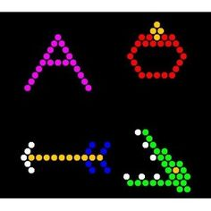 These could be done on blank pages, but Lite Brite does have an alphabet refill pack set of 26 LETTERS for about $12