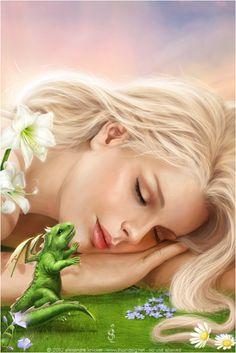 DeviantArt: More Like Fantastic World by Fantasy-fairy-angel My Fantasy World, Fantasy Women, Fantasy Dragon, Fantasy Art, Fantasy Creatures, Mythical Creatures, Elf Magic, Magic Art, Female Dragon