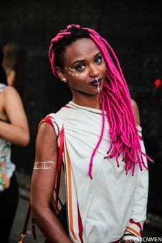 Image result for black girls with pink hair