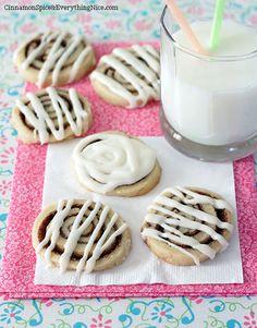 Slice & Bake Cinnamon Roll Cookies