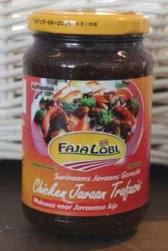 2 recipes for Surinam food, using Faja Lobi Chicken Javaan