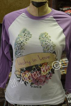 Lucky in Love raglan-lucky in love  horseshoe   raglan