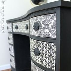 http://girlinthegarage.net/2014/08/french-decoupage-desk-themed-furniture-makeover-day/