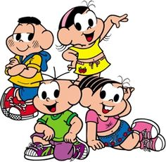 Turma da Mônica - Kit Completo com molduras para convites, rótulos para guloseimas, lembrancinhas e imagens! Happy Cartoon, Big Eyes, Comic Strips, Party Planning, Bowser, Comic Art, Smurfs, Mickey Mouse, Disney Characters