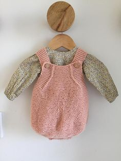 Items similar to Knitted Baby Romper on Etsy Woolen Mills, Knitted Romper, Baby Knitting, Diy And Crafts, Rompers, Colours, Pure Products, Website, Live