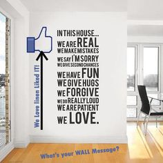 """We really liked this Wall Message! What's your Today's """"Wall Message""""?"""