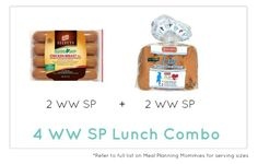 Weight Watcher Lunch Combo 6- Meal Planning Mommies