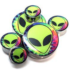 Trippy Alien Ear Plugs