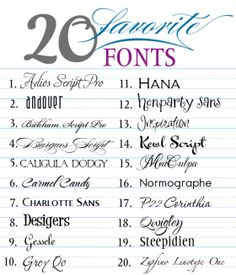 20 Favorite Fonts