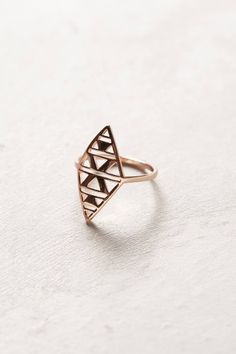 Rosegold Shield Ring by Gorjana - Found on HeartThis.com #HeartThis